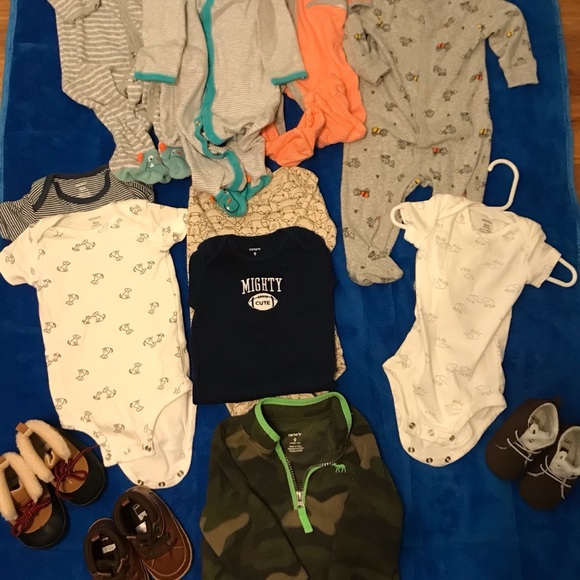 Lot of Boys Clothes and Shoes 6m, 9m, & 12m